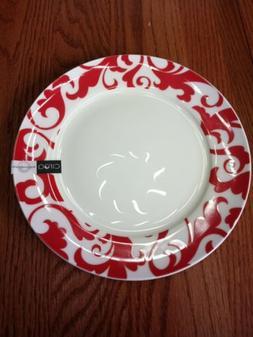 """1 Ciroa Fiori Red Dinner Plate Fine Bone China  8"""" Salad/Bre"""