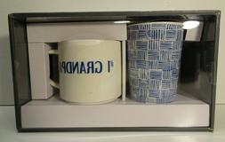 #1 GRANDPA Mug Set Threshold 2 Pack Travel Mugs Dishwasher M