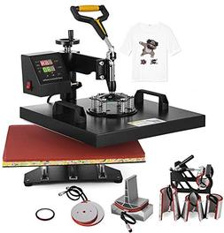 8 in 1 SHZOND 15x 15 Heat Press Machine Heat Transfer Machine for T Shirts Hat Mug Plate