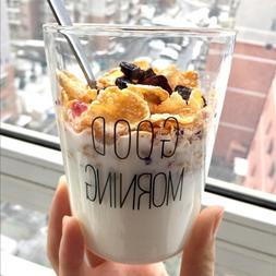 1 pcs Lovely Glass Breakfast <font><b>Cup</b></font> <font><