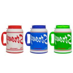 100 Oz Giant Insulated Mug with Straw -