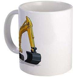 "11 ounce Mug - Excavator Mugs - S White """