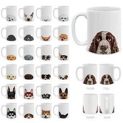 11 OZ Dog Design Ceramic Travel Mug Home Water Tea Coffee Cu