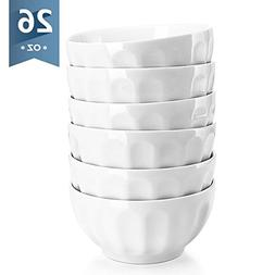 Sweese 1108 Porcelain Fluted Bowl Set - 26 OZ Deep and Micro