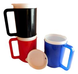 12 Ounce Insulated Coffee Cup-Mug, Choice 3 Colors Red, Blue