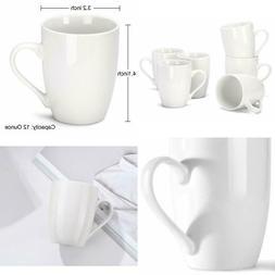 Miware 12 Ounce Porcelain Mugs, Set Of 6, Tea And Coffee Mug