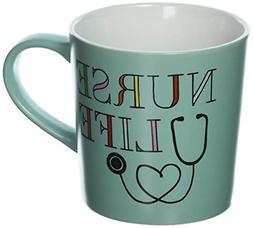 hello world1 121754 Nurse Life Matte Ceramic Coffee Mug 18 o