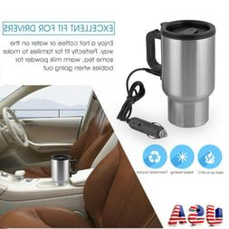 12V Car Electric Heated Drink Travel Hot Coffee Tea Water Cu