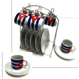 13 Pieces 2 oz Porcelain Espresso Coffee Set 6 Cups 6 Saucer