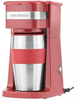 14oz Coffee Maker with Single Serve for K-Cup Pod Ground Cof