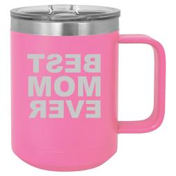 15oz Tumbler Coffee Mug Handle & Lid Travel Cup Vacuum Insul