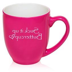 16 oz Bistro Mug Ceramic Coffee Glass Tea Cup Suck It Up But