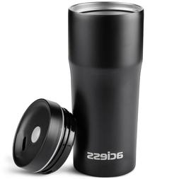 16 OZ Travel Tumbler Stainless steel Black Insulated Cup Dou