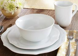 Better Homes & Gardens 16-piece Scalloped White Dinnerware S