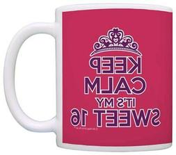 16th Birthday Gifts Keep Calm It's my Sweet 16 Granddaughter