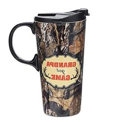 Topadorn 17oz Tall Ceramic Travel Mug Dishwasher Safe Coffee