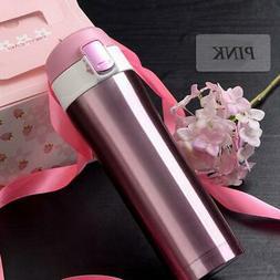 17oz travel mug thermos coffee tea stainless