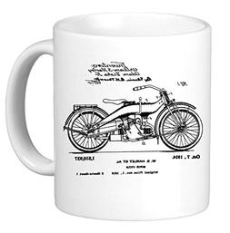 1924 Harley Davidson Patent Drawing Novelty Coffee Mug Cup M