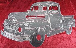 1948 Ford Pick-Up, Metal Truck Art, Ford Truck, Wall Art Dec