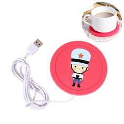 1pc USB Cup Warmer Desktop Coffee Mug Warmer Travel Home Use