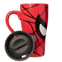 1pk/3pk Silver Buffalo 18oz Marvel Spiderman To Go Ceramic C