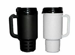 2 Coffee Cup Travel Mugs Air Insulated Holds 18 Oz 1 ea Gran
