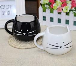 2 Colors Cute Cat Ceramics Coffee Mug Cup Or Milk Cup