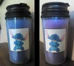 2 Lilot & Stitch Travel Mug Coffee Drinking Cup PHOTO INSERT