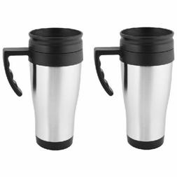 2 Pack Stainless Steel Double Wall 16oz Travel Mug Tumbler w