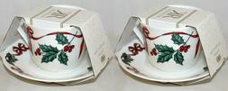 2 Sets RK ROY KIRKHAM CHRISTMAS RIBBON Bone China COFFEE Cup