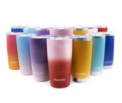 20 oz Stainless Steel Tumbler w/ Lid Handle & Straws Insulat