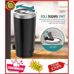 20 oz Vacuum Insulated Tumbler Rambler Cup Non-Spill Lid Tra