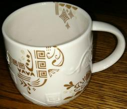 Starbucks 2012 Coffee Cup Mug Bone China Three Regions Aztec