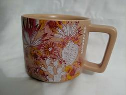 2019 Starbucks Mug 14 oz Coffee Tea Stackable Pink Cactus Fl