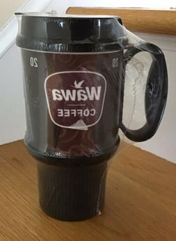 Wawa 20oz Coffee Mug cup travel  Reusable  Whirley black & b