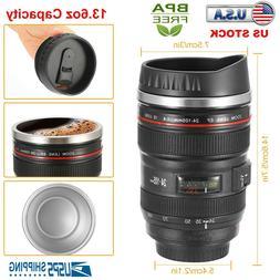 2pak Camera Lens Cup 24-105 Coffee Travel Mug Thermos Stainl