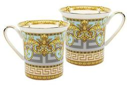 Royalty Porcelain 2pc Mug Set Maskarone for Tea or Coffee Pr