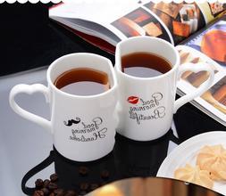 OUSSIRRO 2Pcs/<font><b>Set</b></font> Couple Cup Ceramic <fo