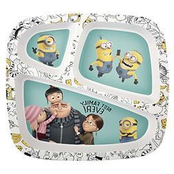 Zak! Designs 3-Section Plate featuring Despicable Me 3 Minio