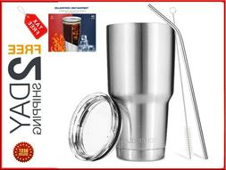 30oz Vacuum Insulated Tumbler Cup Non-Spill Lid Travel Coffe