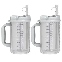 32 oz Hospital Mugs with Granite Lids - Cold Drink Travel Mu