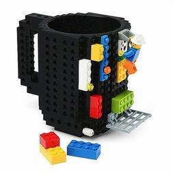 350ML DIY Black Build-On Brick Building Blocks Coffee Block