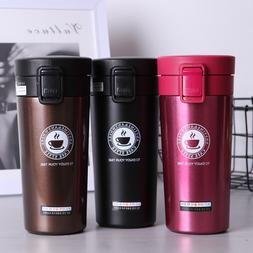 380ML Travel Coffee Cup Tumbler Stainless Steel Coffee Tea B