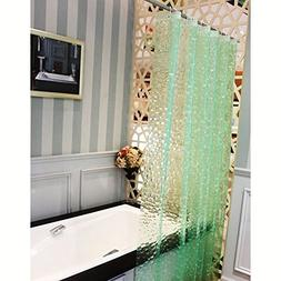 FOME 3D Effect Bathroom Curtain Water Cube Mold & Mildew Fre