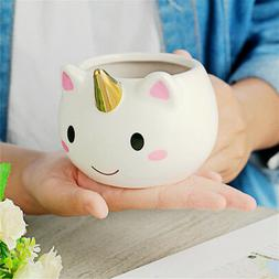 3D Unicorn Coffee Milk Water Mug Ceramic Cartoon Cup Birthda