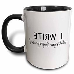 3dRose mug_194455_4 I Write - What's Your Superpower - Fun G