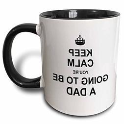 3dRose mug_194458_4 Keep Calm You're Going to be a Dad Futur