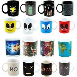 Set of Color Cute Coffee Tea Unique Changi... Heat Sensitive Coffee Magic Mugs