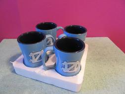 4 North Carolina Tar Heels Coffee Mug new 14 oz Sculpted Rel