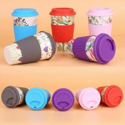 400ml Eco-Friendly Bamboo Fiber Coffee Mug Travel Mug With L